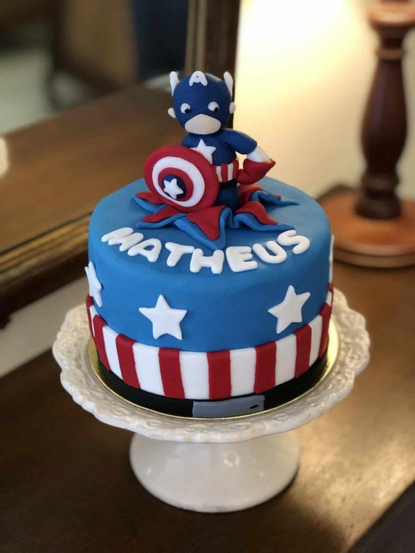 Bolo Mesversário Capitão América