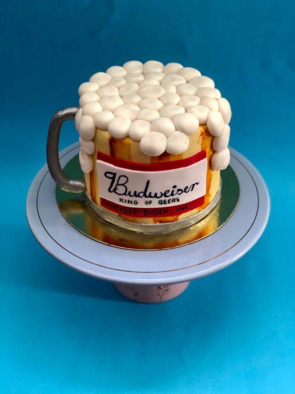 Bolo Decorado - Budweiser